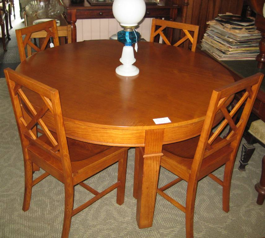 Arts ands Crafts Dining Suite   SOLD