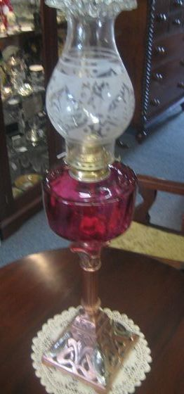 American Banquet Lamp   SOLD