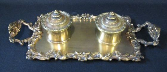 Brass Desk Set   SOLD
