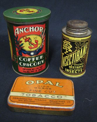 Selection of Australian Tins