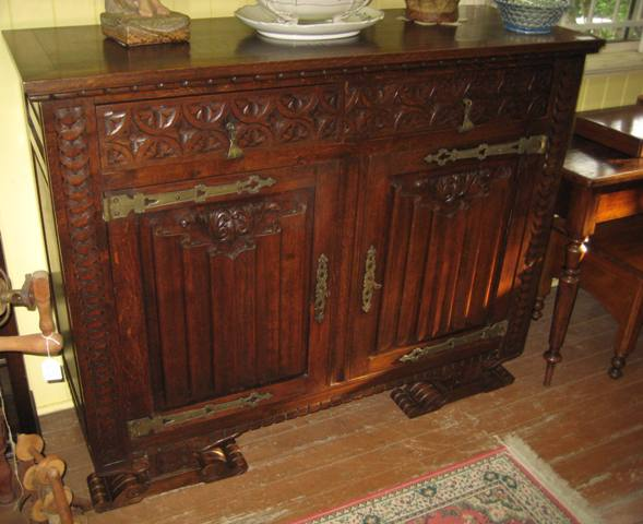 French Oak Sideboard   SOLD