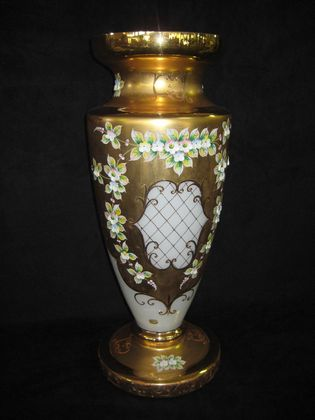 Bohemian Glass Vase   SOLD