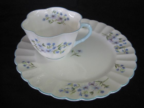 Blue Rock Tennis Cup And Saucer   SOLD