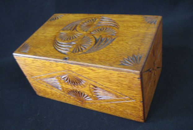 Beech Chip Carved Box