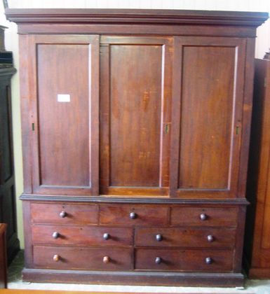 Cedar Wardrobe on Chest   SOLD