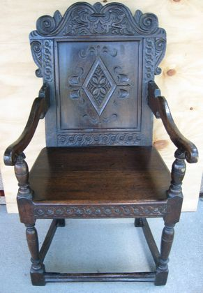 17th Century Wainscott Chair   SOLD