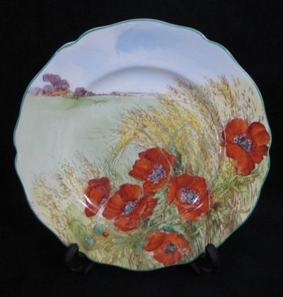 """Poppies in a Cornfield"" Plate   SOLD"