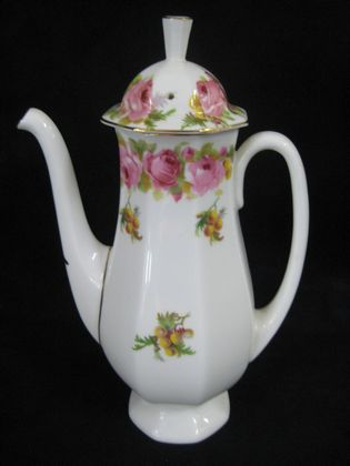 """Rose and Wattle"" Coffee Pot   SOLD"